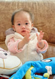 Chinese baby girl applause Royalty Free Stock Photos
