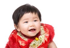 Chinese baby girl smile Stock Photography