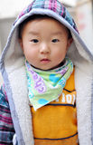 A Chinese baby looking at camera Stock Images
