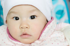 Chinese baby with a pair of big eyes Stock Photos