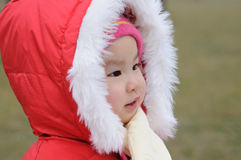 Chinese baby with red hat Royalty Free Stock Photo