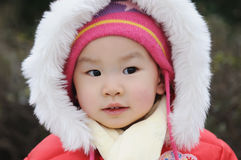 Chinese baby with red hat Stock Photo