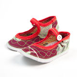 Chinese baby shoes. Isolate on white background Royalty Free Stock Images