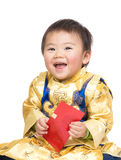 Chinese baby with traditional costume Stock Photos