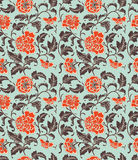 Chinese background with flowers. Seamless pattern vector illustration