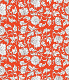 Chinese background with flowers. Seamless pattern. Stock Image