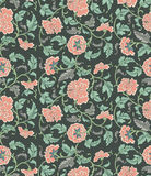 Chinese background with flowers. Seamless pattern. vector illustration