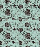 Chinese background with flowers. Seamless pattern. stock illustration