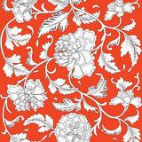 Chinese background with flowers. Chinese vector background with flowers vector illustration