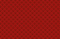 Chinese background. Red Chinese background pattern seamless, illustration. Design style royalty free illustration