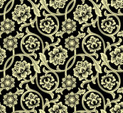 Chinese Background With Flowers. Seamless Pattern. Royalty Free Stock Images