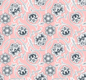 Chinese Background With Flowers. Seamless Pattern. Stock Photos