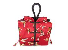 Chinese bag. Red Chinese bag with fine detailed fabric Royalty Free Stock Images
