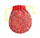 Chinese bag. Red Chinese bag is isolated on white background Royalty Free Stock Images