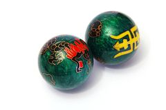 Chinese balls stock photos