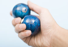 Chinese balls for relaxation of spirit and body. In hand Royalty Free Stock Images