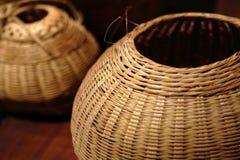 Chinese bamboo basket close up Royalty Free Stock Image
