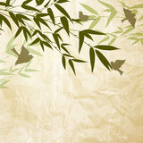 Chinese bamboo design. Royalty Free Stock Photo