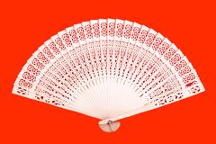 Chinese bamboo fan Stock Images