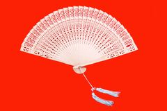 Chinese bamboo fan Royalty Free Stock Photography