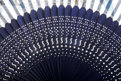 Chinese bamboo fan close-up. Close-up of the exquisite details of  Chinese bamboo fan Royalty Free Stock Photography