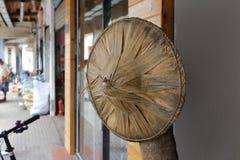 Chinese bamboo hat Stock Image