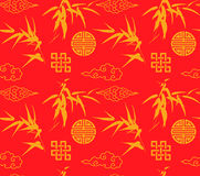 Chinese bamboo seamless background Stock Photo