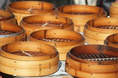 Chinese Bamboo Steamers Royalty Free Stock Photos