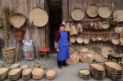 Chinese bamboo weaving Royalty Free Stock Images