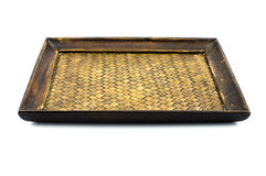 Chinese bamboo woven tray Royalty Free Stock Photos