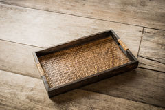 Chinese bamboo woven tray Royalty Free Stock Photography