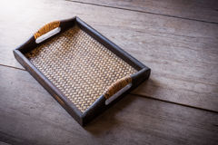 Chinese bamboo woven tray Stock Photography