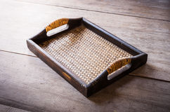 Chinese bamboo woven tray Royalty Free Stock Photos