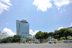 Chinese bank. Citic bank building in shenzhen,china Royalty Free Stock Photo