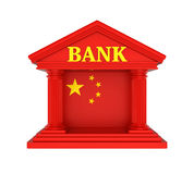 Chinese Bank Building Isolated. On white background. 3D render Royalty Free Stock Photography