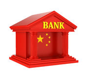 Chinese Bank Building Isolated. On white background. 3D render Stock Images