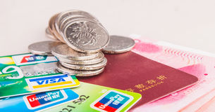 Chinese bank savings and consumption Royalty Free Stock Images