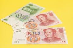Chinese Bankbiljetten Yuan Royalty-vrije Stock Afbeeldingen