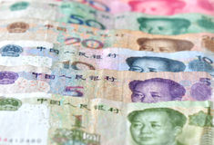 Chinese banknotes background Royalty Free Stock Photos