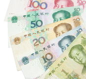 Chinese banknotes Stock Photography