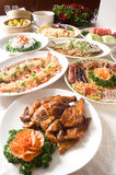 Chinese banquet course. A Chinese banquet full course, include appetizer, main dish, soup, fruit and dessert Stock Photography