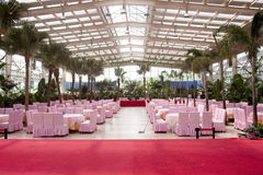 Chinese banquet hall in the garden Stock Images