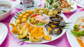 Chinese banquet style starter dish Royalty Free Stock Images