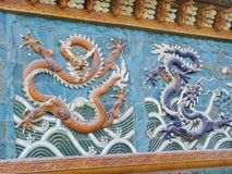 Chinese Baodu Zhai�Dragon Wall Royalty Free Stock Image
