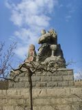 Chinese Baodu Zhai�Sign statue Royalty Free Stock Image