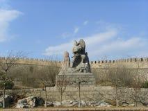 Chinese Baodu Zhai-Statue Royalty Free Stock Photo