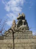 Chinese Baodu Zhai-Sign statue Royalty Free Stock Image