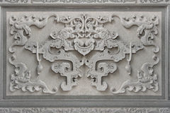 Chinese Bat Symbol Wall Stone Carving Royalty Free Stock Photo