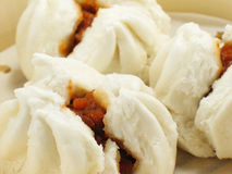 Chinese BBQ Pork Buns Stock Photo