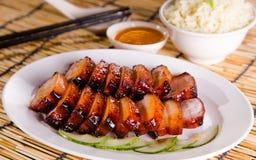 Chinese bbq sweet pork Stock Photo